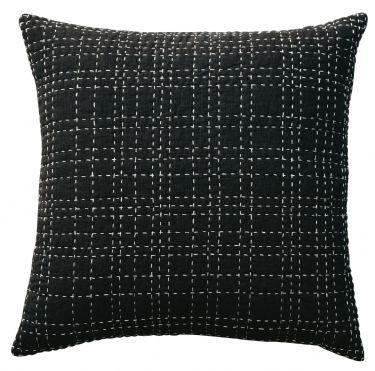 DS Accent Pillow Collection Big Stitch Black