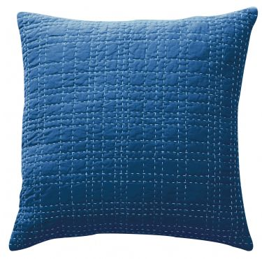 DS Accent Pillow Collection Big Stitch Blue