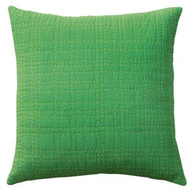 DS Accent Pillow Collection Big Stitch Green