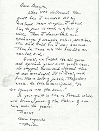 Summer in Maine Letter