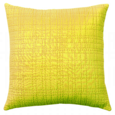 DS Accent Pillow Collection Big Stitch Yellow