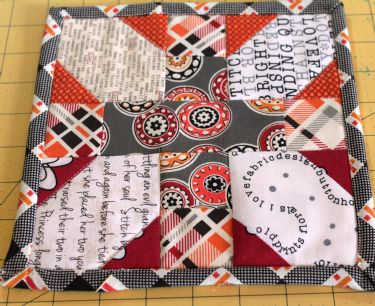 Florence Challenge Projects Mug Rug by Karri Garza