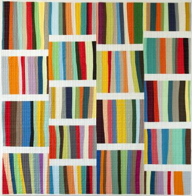 A Different Stripe throw-sized quilt