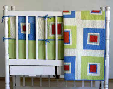 Pretty Square Multi On a Crib