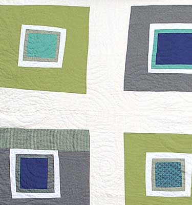 Pretty Square Green Detail