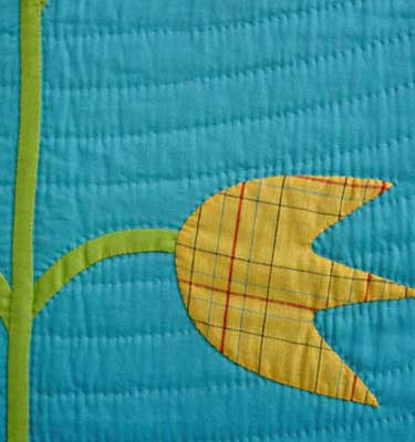 Tulip Tree Appliqué Detail