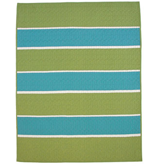 Rugby Stripes Moss/Lagoon/Bone Crib