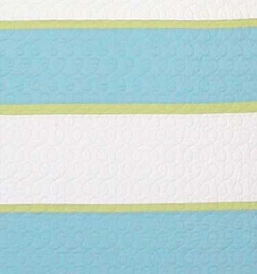Rugby Stripes Snow/Parakeet/Lime Detail
